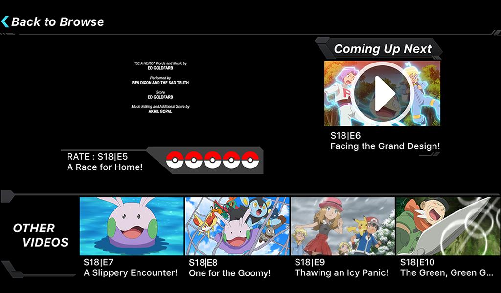 Pokémon TV 2.1.0 Screen 1