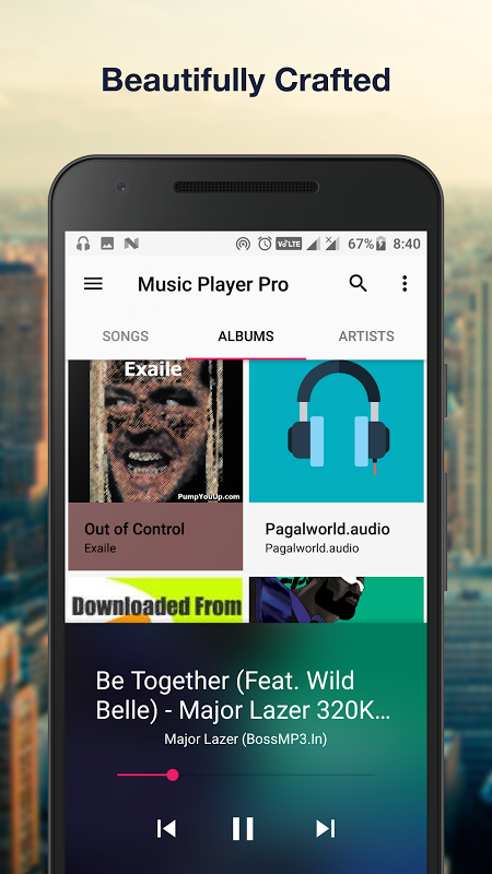 Android Music Player Pro+ Screen 2