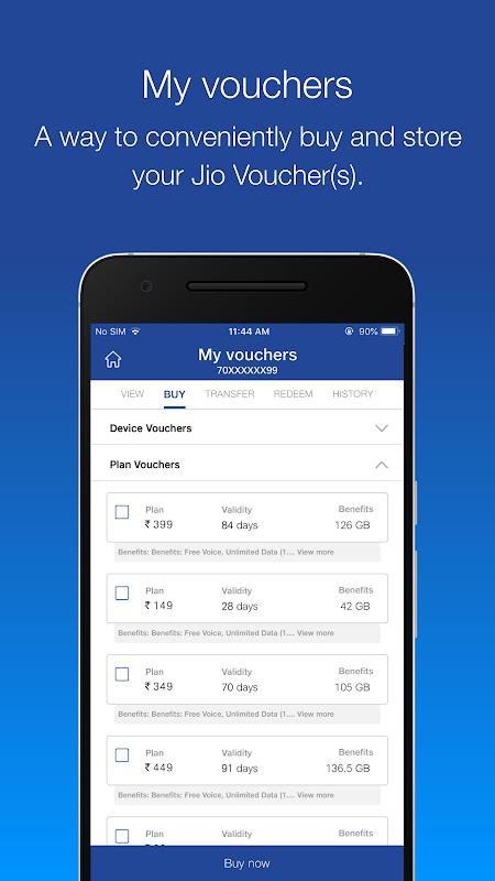 MyJio - Recharge & Pay Bills, Redeem ₹50 Voucher 5.0.17 Screen 3