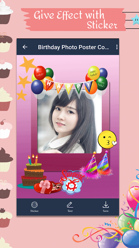 Android Birthday Photo Poster Collage Screen 5