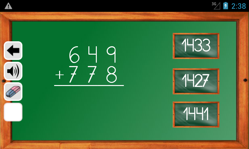 Android Maths Trainer Screen 6