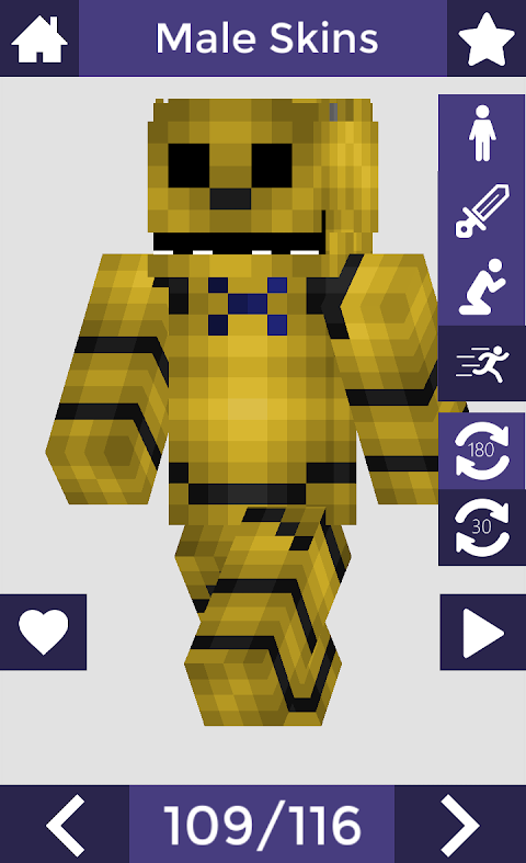 Skins for Minecraft PE 6 Screen 1
