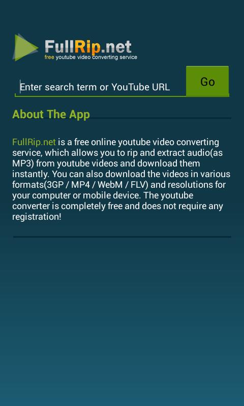 FullRip net - Youtube to Mp3 APKs   Android APK