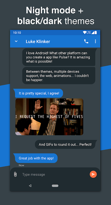 Android Pulse SMS (Phone/Tablet/Web) Screen 7