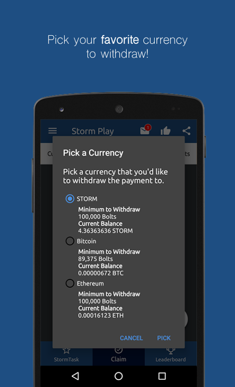 Android Storm Play Screen 6