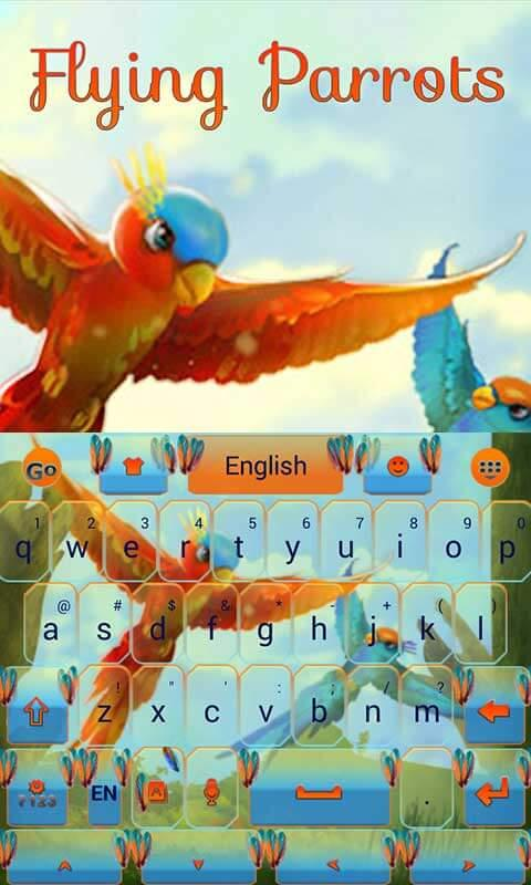 Android Flying Parrot Keyboard Theme Screen 5