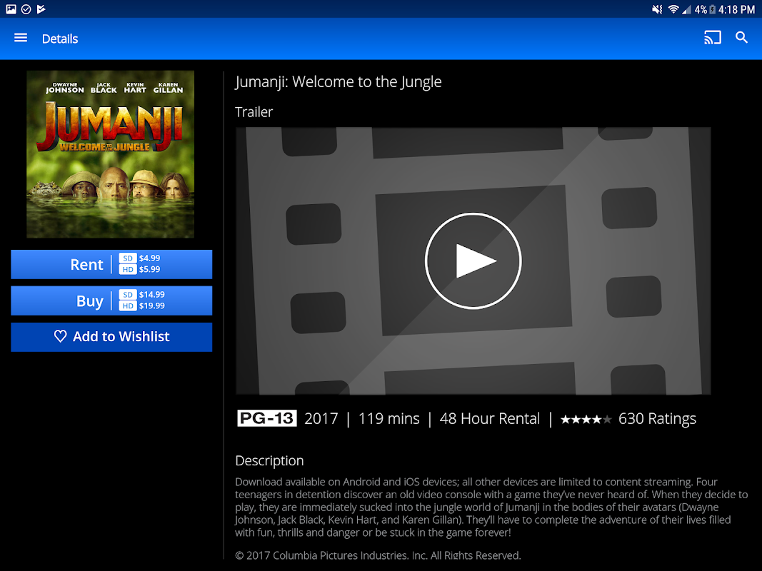Android PlayStation™Video Screen 4
