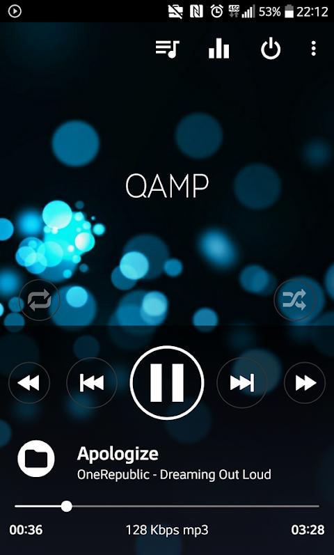Mp3 player - Qamp 1.0.085 Screen 2