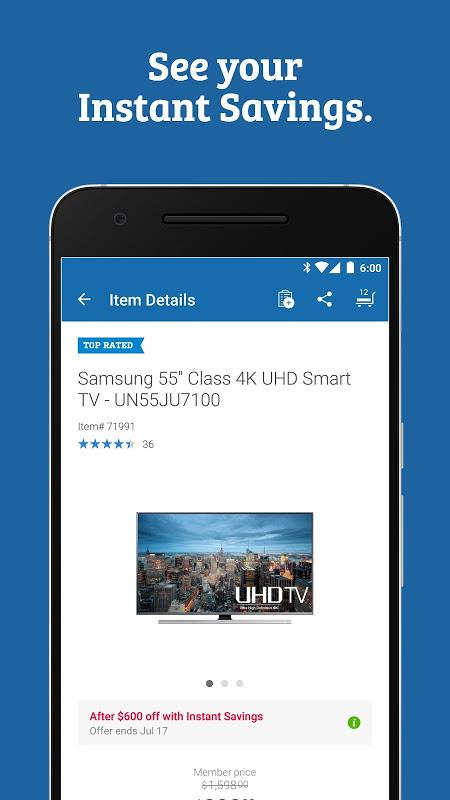 Sam's Club: Wholesale Shopping 5.12.1-(17.8.1) Screen 1