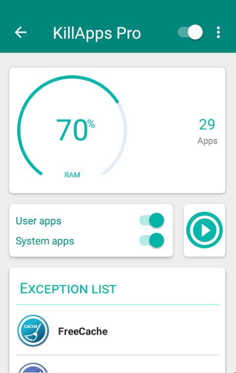 KillApps: Close all apps running 1.5.13 Screen 2
