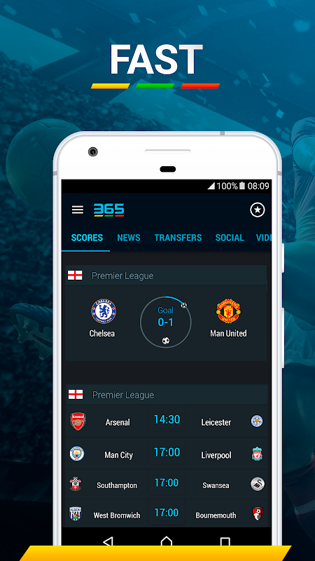 365Scores: Sports Scores Live 5.1.3 Screen 12