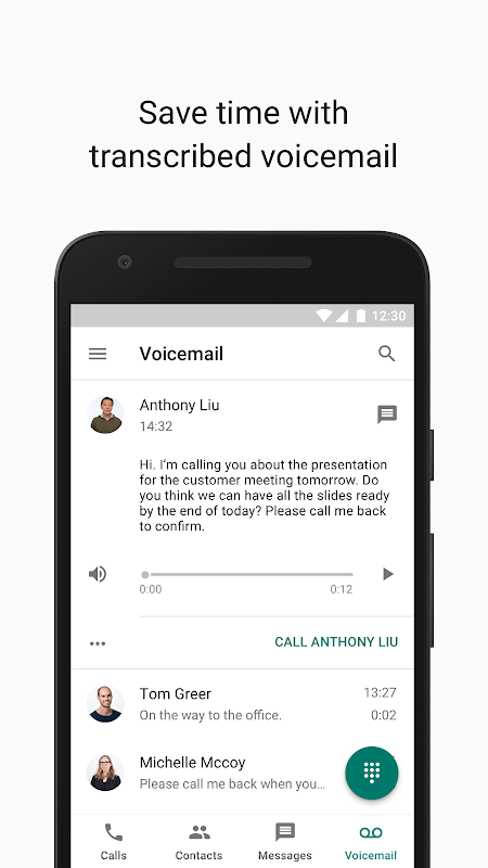 Google Voice 2018.50.224208644 Screen 3