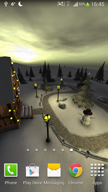 Android Winter 3D, True Weather Screen 2