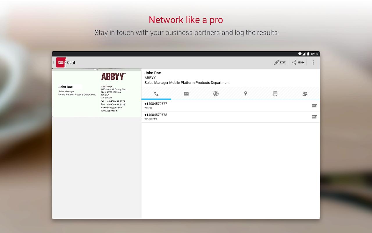 Business Card Reader Pro - Business Card Scanner 4.7.621 Screen 8