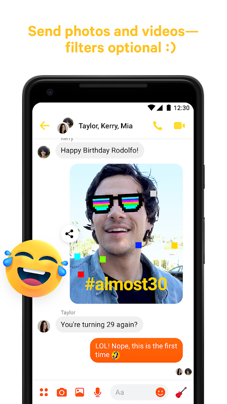 Messenger – Text and Video Chat for Free 203.0.0.0.55 Screen 3