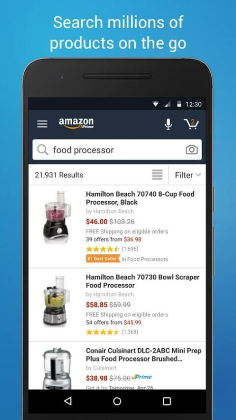 Amazon Shopping 12.9.0.100 Screen 1