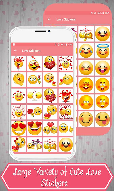Android Love Stickers Screen 2