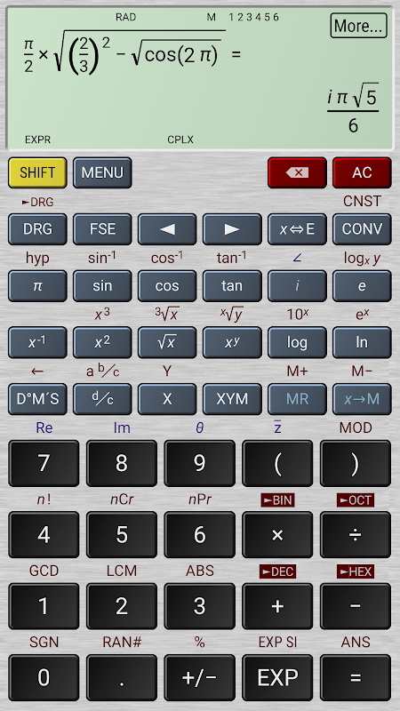 Android HiPER Calc Pro Screen 5