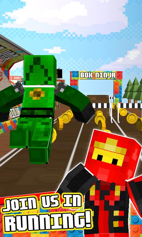 Lego Cartoon 3D Block Running Ninjago Minecraft Skins Adventure Games 1.0 Screen 1