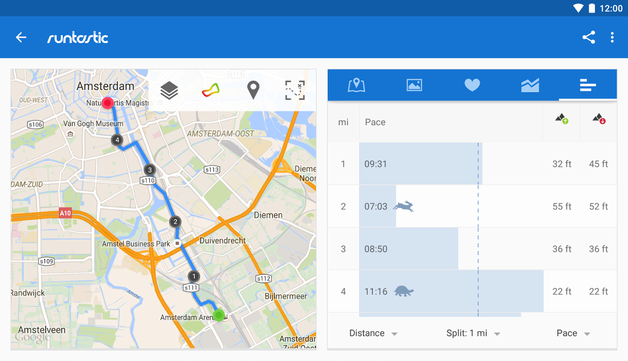 Android Runtastic PRO Running, Fitness Screen 21