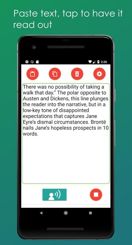 Android Convert Text to Speech Screen 2