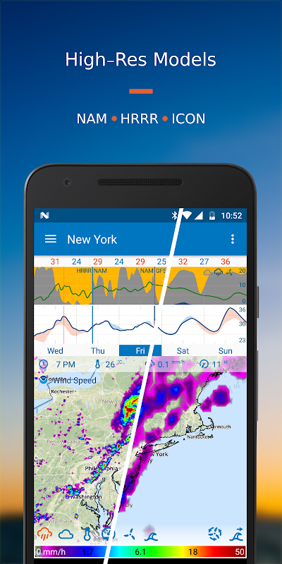 Android Flowx: Weather Map Forecast App Screen 2