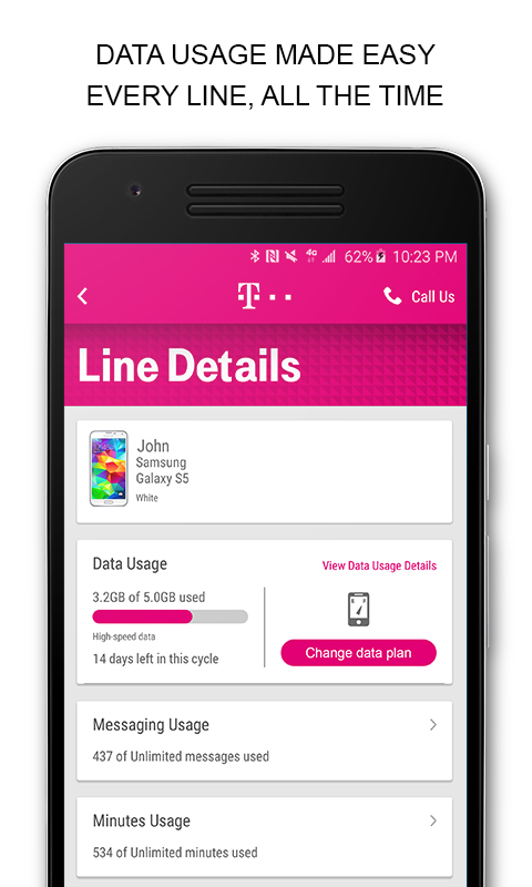 T-Mobile 5.3.0.10 Screen 2