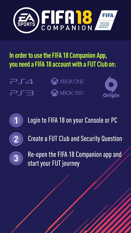 Android EA SPORTS™ FIFA 18 Companion Screen 1