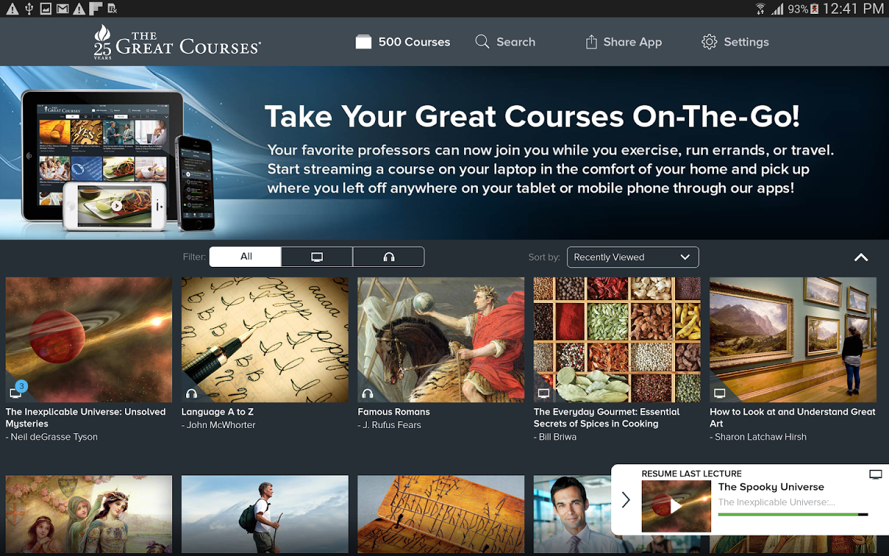 Android The Great Courses Screen 5