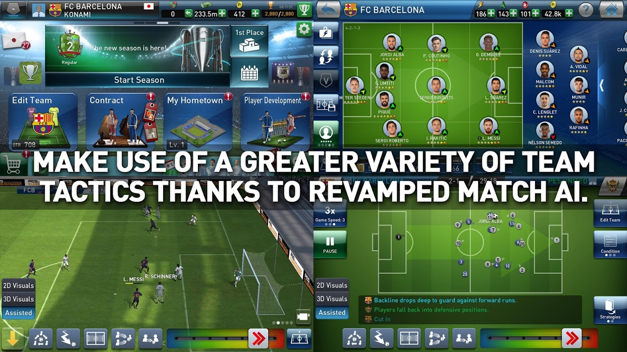 PES CLUB MANAGER 2.0.4 Screen 1