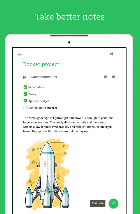 Android Evernote - stay organized. Screen 12