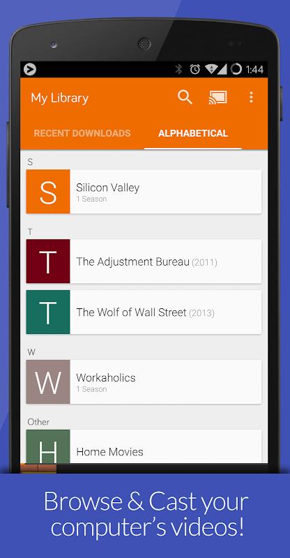 Videostream Chromecast: Mobile 1.18.02.27 Screen 1