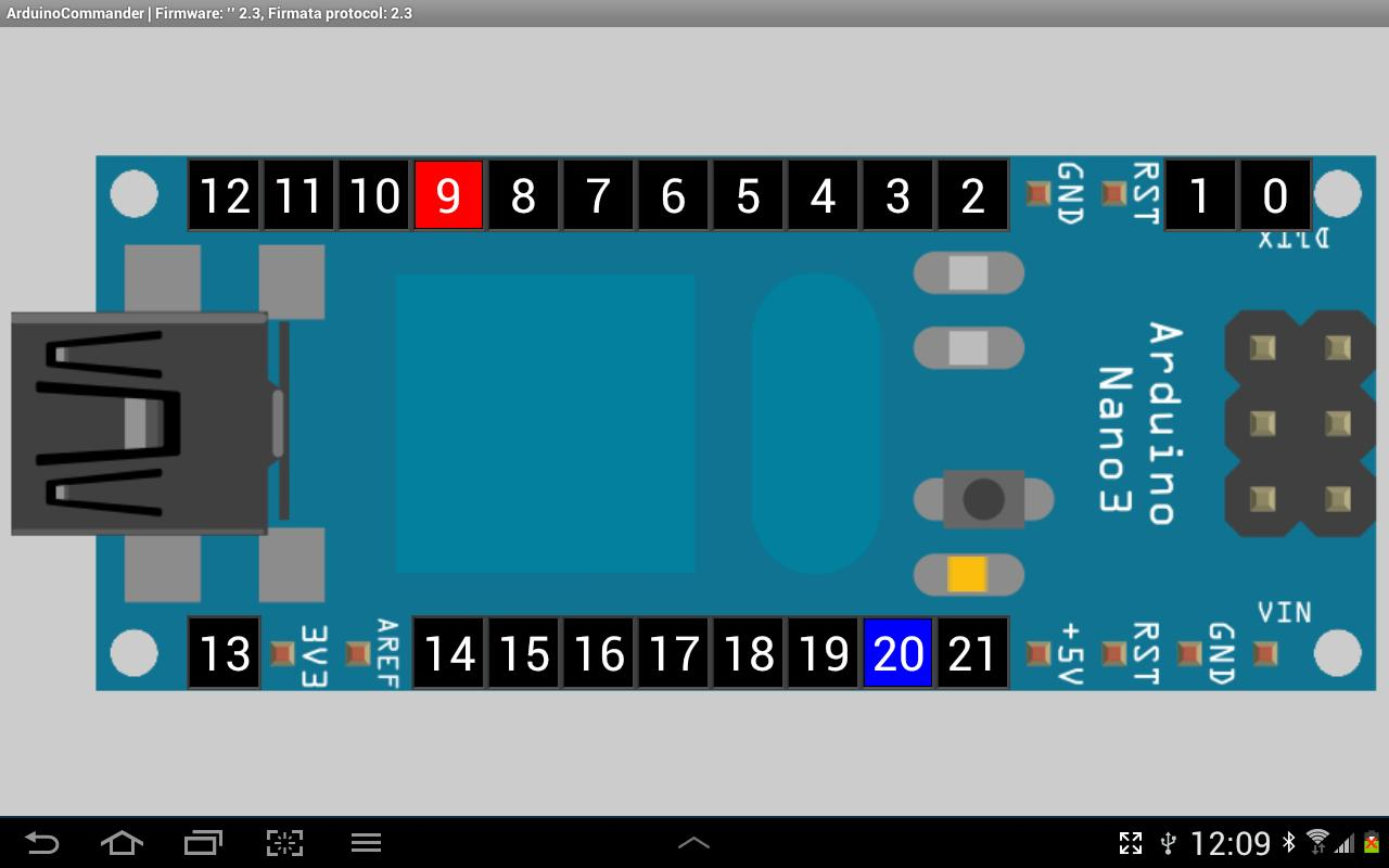 Android ArduinoCommander Screen 2