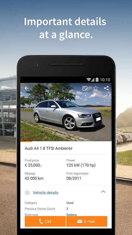 Android AutoScout24 - used car finder Screen 2