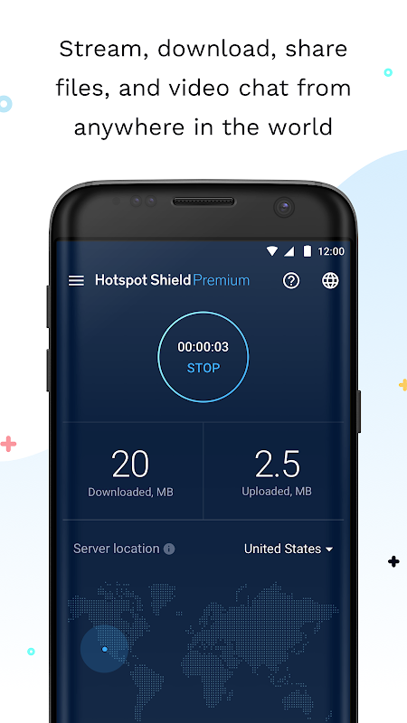 Android Hotspot Shield Screen 1