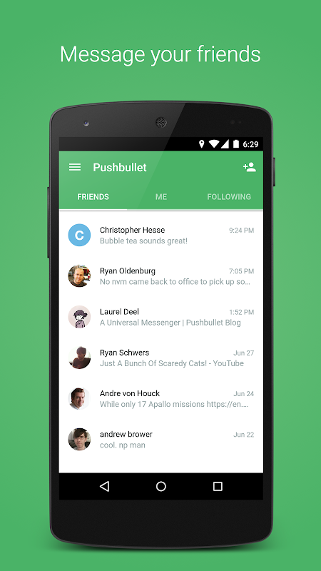 Pushbullet - SMS on PC 17.8.15 Screen 1