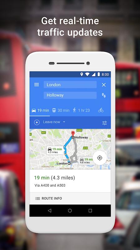 Google Maps Go – Directions, Traffic & Transport 98 Screen 1