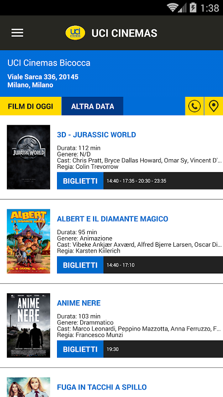 UCI CINEMAS ITALIA 3.1.6 Screen 1