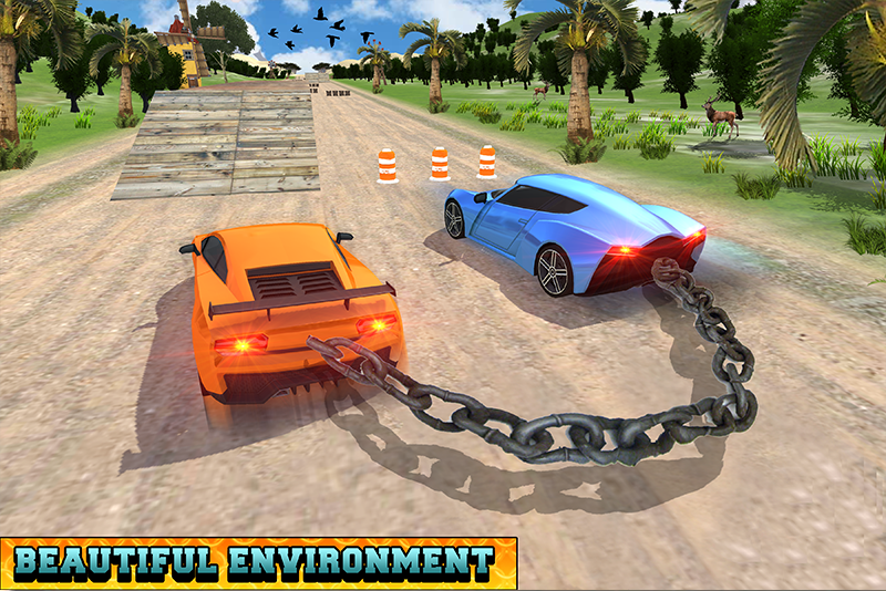 Android Chained Cars Racing Stunts Screen 3