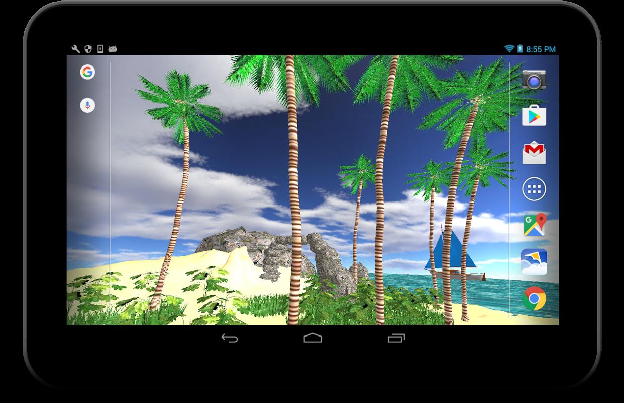 3D Tropical Island wallpaper 1.13 Screen 4
