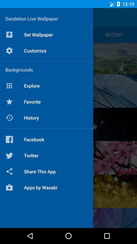 Android Dandelion Live Wallpaper Screen 6