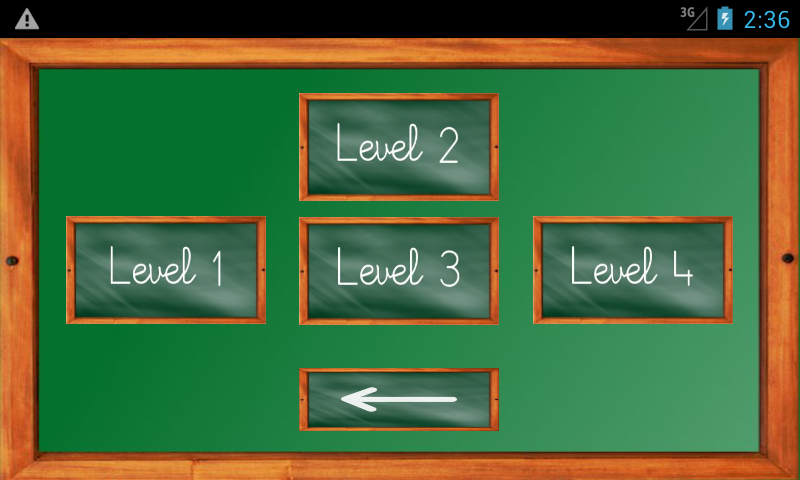 Android Maths Trainer Screen 1