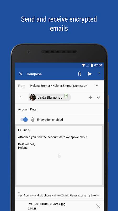 GMX Mail 6.1.3 Screen 1