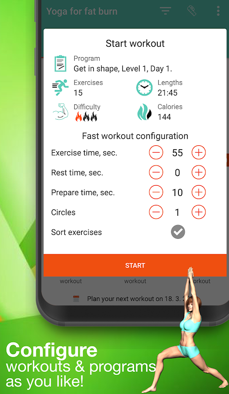 Android Yoga for weight loss -lose weight programat home Screen 4
