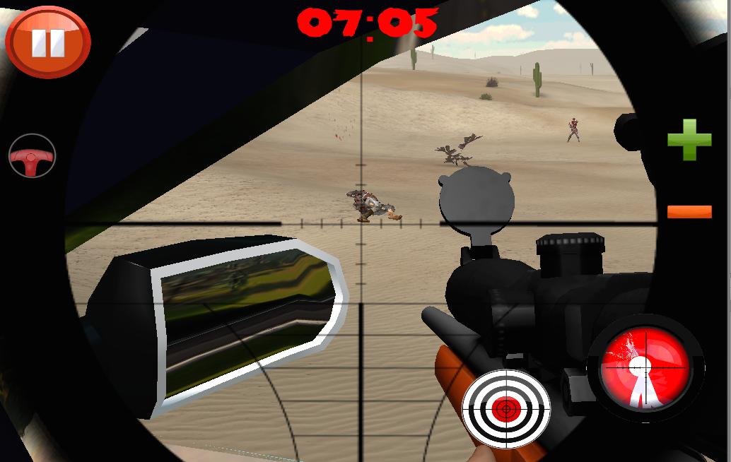 Android Desert Zombies War Screen 4