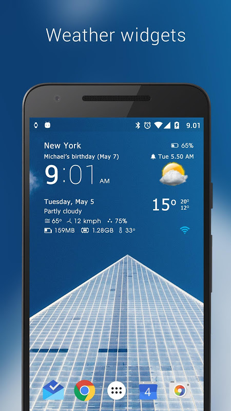 Android Transparent clock weather Pro Screen 17