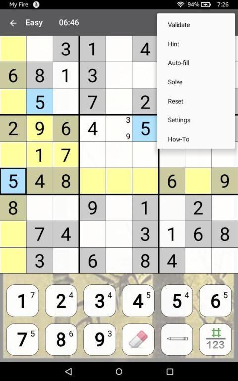 Sudoku 10.2.5.g Screen 16