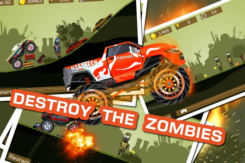 Mad Truck 2 -- monster truck hit zombies 3.71.9 Screen 3