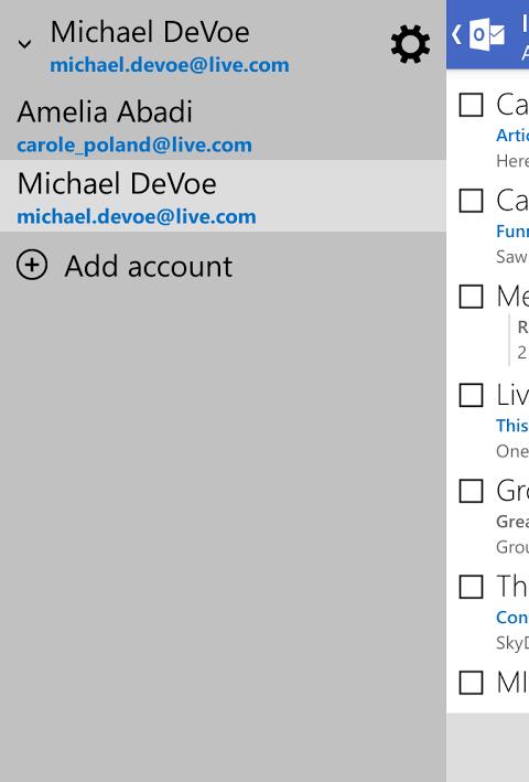 Outlook.com 7.8.2.12.49.9884 Screen 2