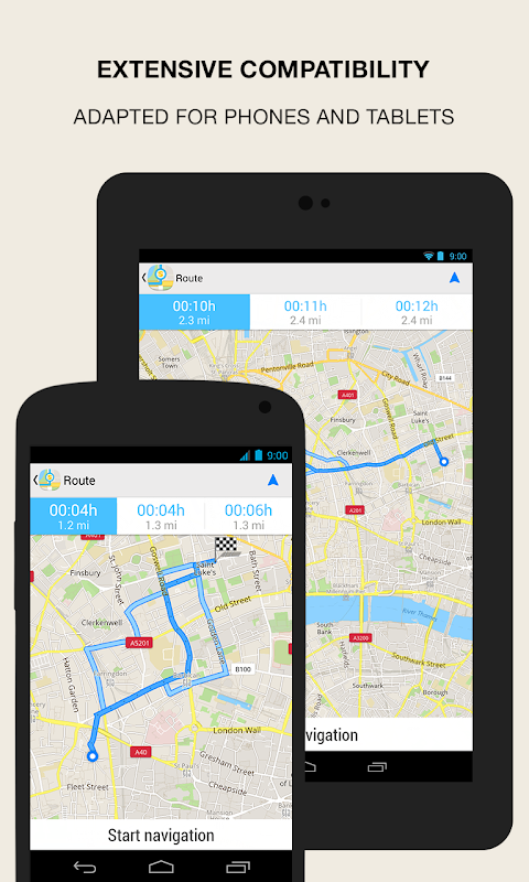 Android GPS Navigation & Maps - Scout Screen 7